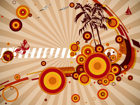 barque: Abstract vector background with some shapes different colors. Illustration