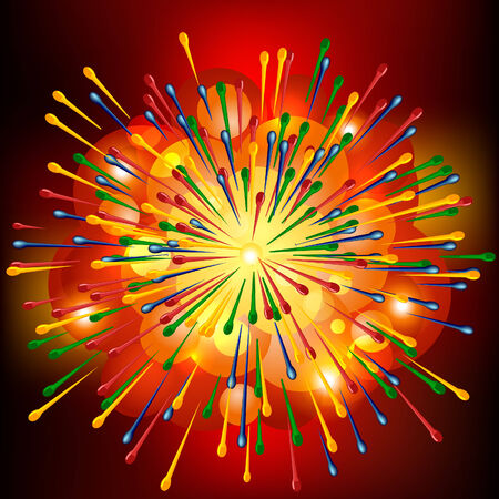 smeared: Brightly Explosion Vector Background.
