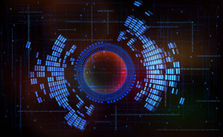 cyberspace: Abstract technology-style vector background-code zero one in cyberspace.