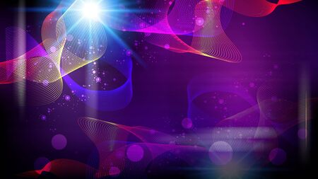 Futuristic abstract fantasy glowing background. Vector illystration. Vector