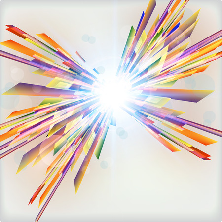 Abstract futuristic background with light burst