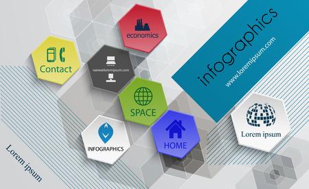 Infographic technology design template-poster template, brochure, flyer Illustration