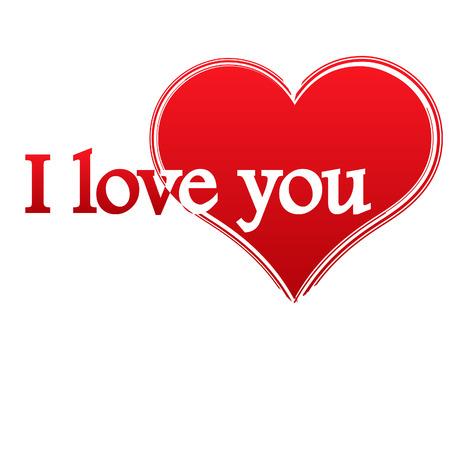 saint valentine s day: Valentine background - heart and stylish text.