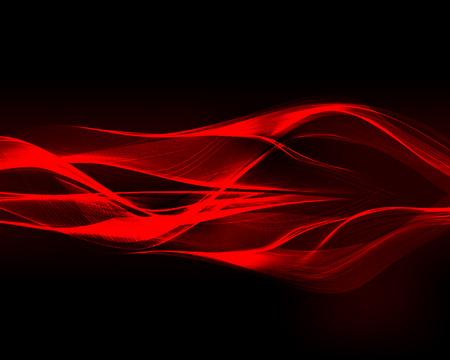 Streszczenie czerwone fale na ciemnym tle. Ilustracji wektorowych. Ilustracje wektorowe
