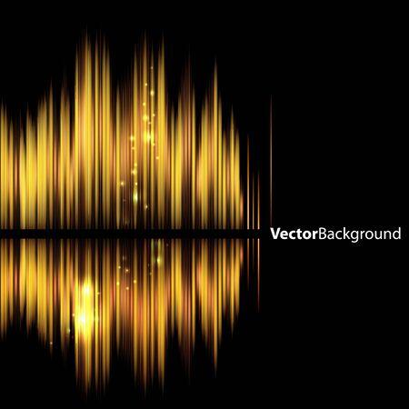volume glow light: Abstract background-shiny sound waveform. Vector illustration.