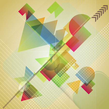 hot spot: Abstract  background with different geometric shapes. Vector illustration.