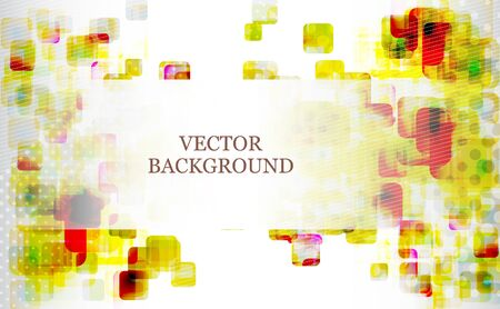 squares background: Abstract futuristic squares background. Vector illustration. Illustration