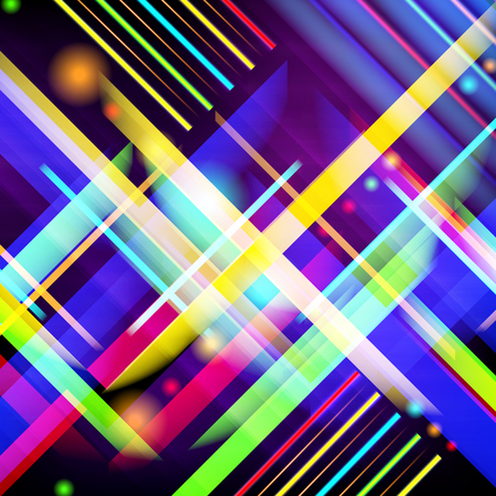 digitally generated image: Digitally generated image of colorful light and stripes. Vector illustration.