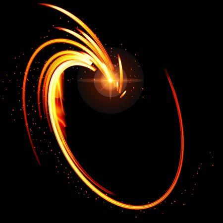 smooth background: Abstract glow  background with fire shape. Vector illustration.