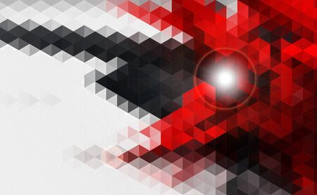 Abstract geometric red and black vector background design.