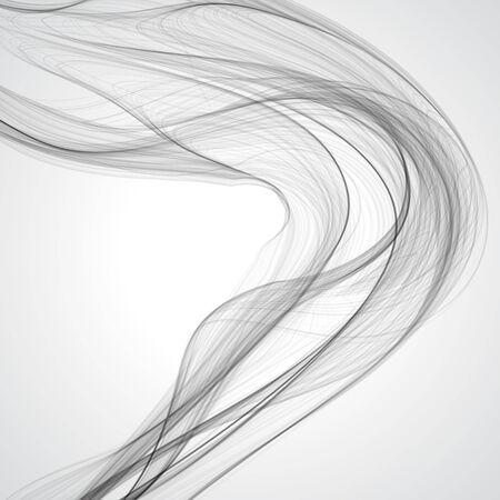 gossamer: Abstract gray wavy background. Vector illustration.