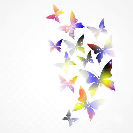 hot spot: abstract background with colorful butterfly.