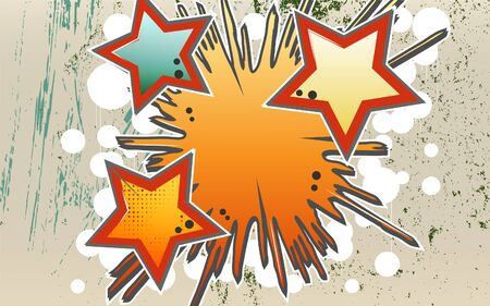 impetuous: Abstract background of explosion stars in graffity style.