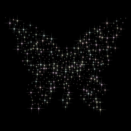 Abstract conceptual design - a stars butterfly shape. Illustration
