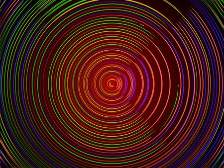 Abstract technology background - colorful lines in circle form. Technology icon.