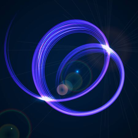 Abstract technology vector background with blue spiral shape.