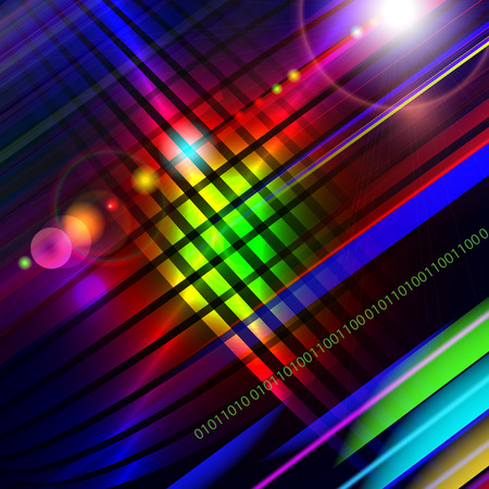Abstract vector technology-style colorful background. Illustration