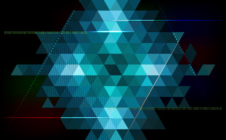 Abstract triangle vector background - technology, science, programming and computing concept.