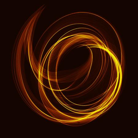 Fractal art vector background with color spiral waves. Illustration
