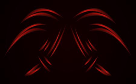 Digital red lines. Color form technology  illustration. Modern glowing shape design. Vector illustration.