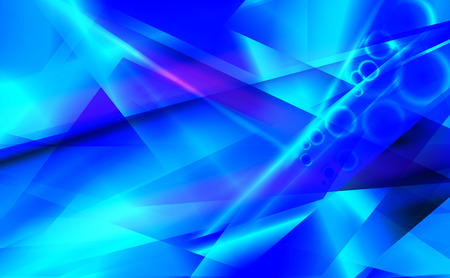 water reflection: Vector blue futuristic abstract background.