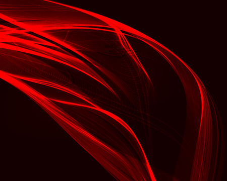 Abstract red waves on the dark background Vector illustration.
