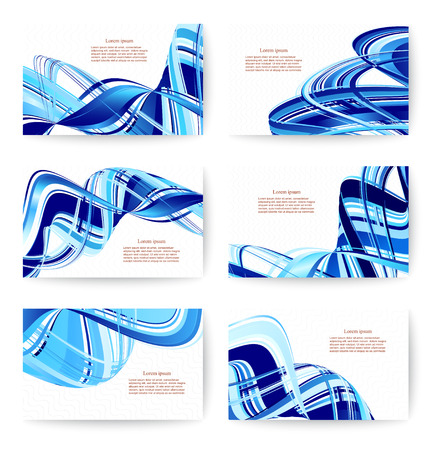Abstract various business card template or visiting card set Vector illustration.