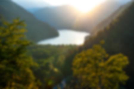 A beautiful mountain  landscape near a lake. Vector illustration.