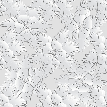 Vector Floral  Seamless Pattern Background.
