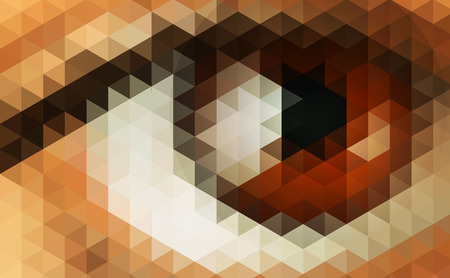 Abstract vector futuristic background with human eye. Ilustrace