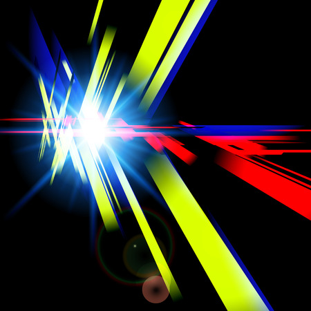 Abstract futuristic design with different colors forms. Digital technology concept. Vector illustration.