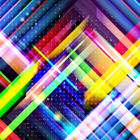 Technology colorful abstract background. Digital technology concept. Abstract futuristic, shiny lines background. Vector illustration.