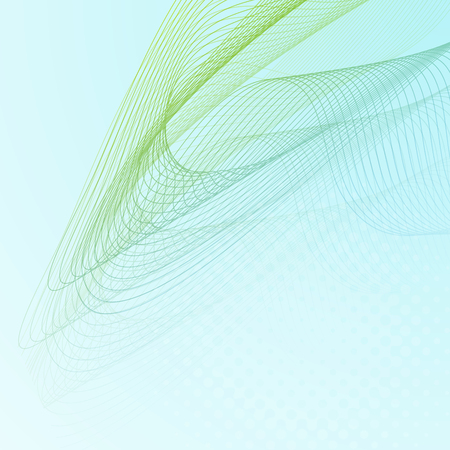 Abstract background with wave lines. Vector illustration.