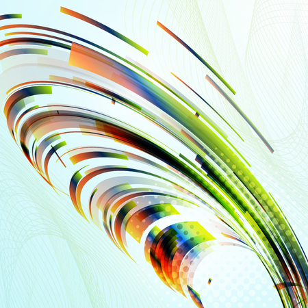 Abstract smooth color wave background. Vector illustration.