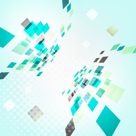 Abstract geometric design - 3d explore square mosaic vector background.