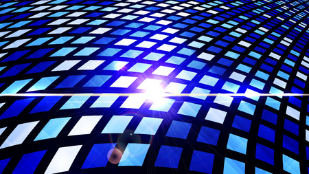 Digital abstract technology design - shiny color checkered techno vector abstract background. Cyberspace concept. Vector illustration.