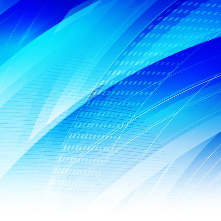 Abstract blue light background with polygonal shapes and place for Your text. Vector illustration.