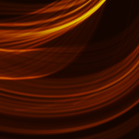 Abstract fractal orange gradient background. Light curved lines and shape with color graphic design.  Computer generated graphics. Vector illustration. Vectores