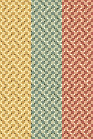 set of geometry optical illusion patterns