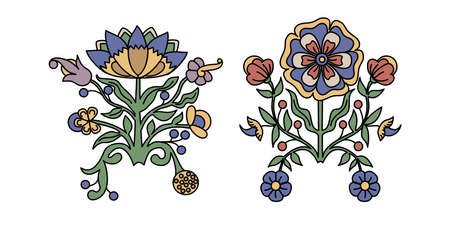 two book tracery flowerls. vector ornament pettern Ilustrace