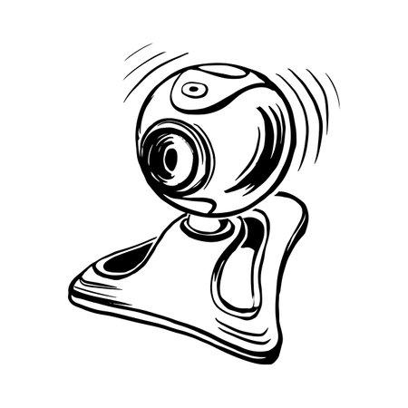 vector sketch of web camera