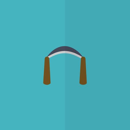 scraper: Carpentry scraper flat icon. Spokeshave.  Editable and design suitable vector illustration. Illustration