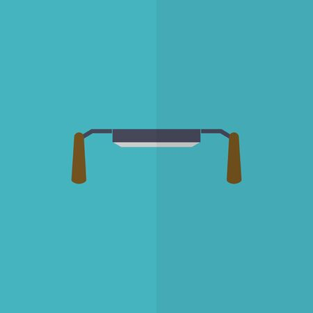 scraper: Carpentry scraper flat icon. Spokeshave.  Editable and design suitable vector illustration. Illustration
