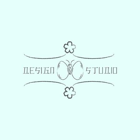 identidad cultural: Logo plantilla en estilo oriental. Logotipo de diseño étnico para los negocios. Ornamento oriental japonés, chino y otros. Símbolo tradicional asiática. Vectores