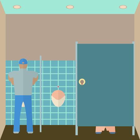 piss: Toilette illustrazione interni.