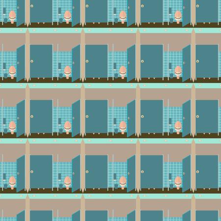 poo: Toilet interior illustration seamless pattern.  Illustration