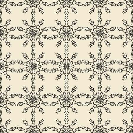 Geometric ornament seamless pattern.  Monochrome design template seamless background. Round, polygonal and grunge motif endless texture. Editable and color ready.