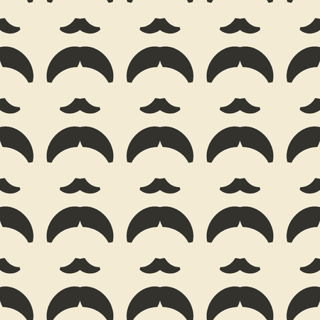 dise�o textil: Mustache and hairstyle geometric ornament seamless pattern.  Textile design template seamless background. Retro motif endless texture. Monochrome sample vector illustration. Vectores