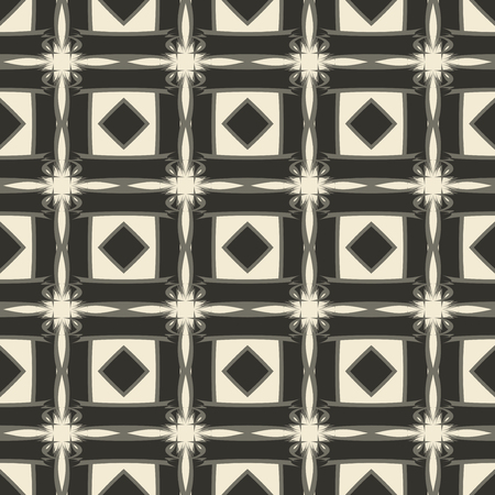 geometrical pattern: Geometric ornament seamless pattern.  Textile design template seamless background. Round, polygonal and grunge motif endless texture. Monochrome sample vector illustration.