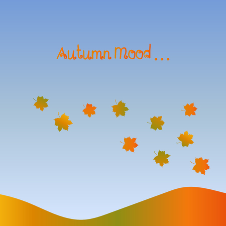 indian summer: Autumn mood pattern. Fall motif background. Indian summer vector illustration.